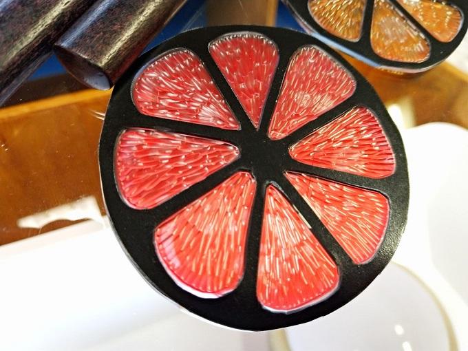彫り跡で「美味しそうな果肉」の表現にチャレンジ★
